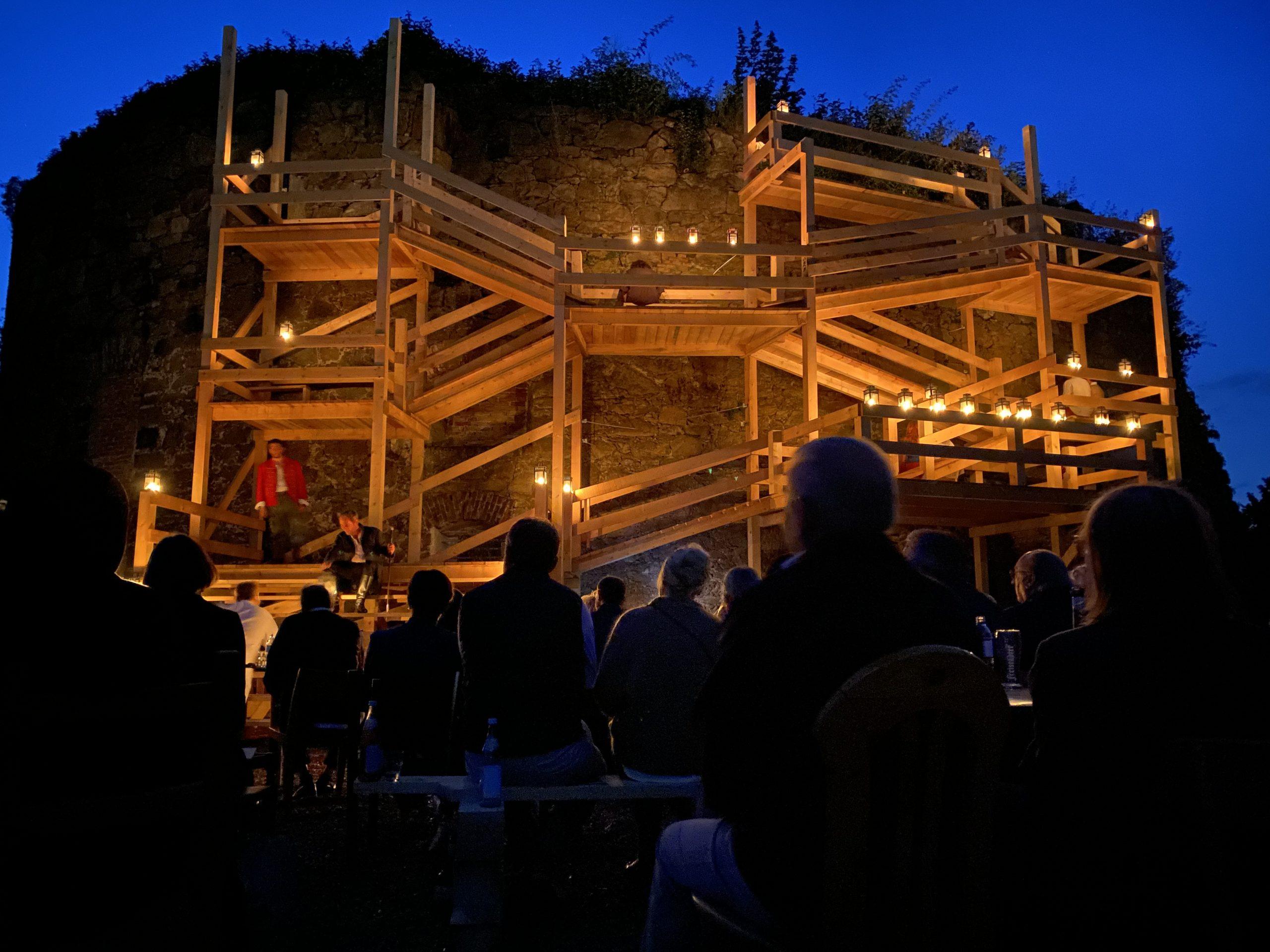 Bühnenbild Sommertheater Linz Viel Lärm um Nichts